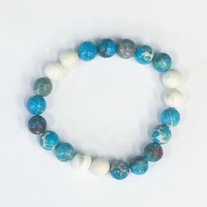 Blue + White Jasper Bracelet